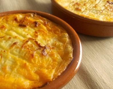 Gratinado de patatas - Aardappelgratin