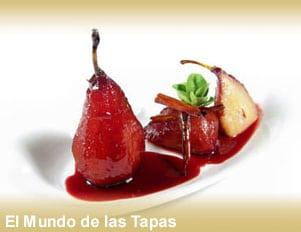 Peras al vino tinto - Stoofperen in rode wijn