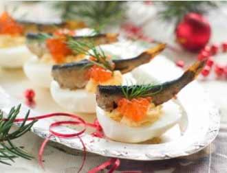Aperitivo de atún y caviar - Amuse met tonijn