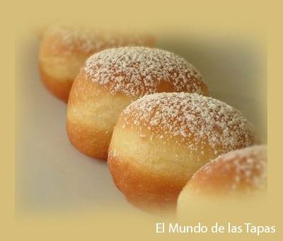 Bollo de azucar - Suikerbolletjes gevuld met confiture